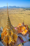 A view from the top of the pagoda, Wat Tham Sua Royalty Free Stock Photo