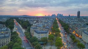 The view of the top of paris, France Royalty Free Stock Photography