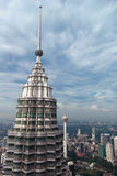 A view of the top of PETRONAS TWIN TOWERS Stock Image