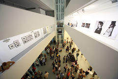 The view from the top on photo exhibition Stock Images