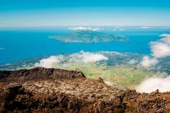 Faial Island From Pico royalty free stock photos