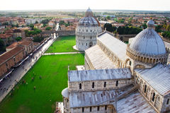 View from the top of Pisa tower Stock Photos