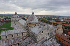 View from the top of Pisa tower Royalty Free Stock Photos