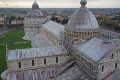 View from the top of Pisa tower Stock Images