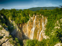 View from top on Plitvice Lake National Park Royalty Free Stock Photo