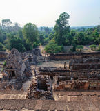 View from the top of the The Pre Rup temple Royalty Free Stock Image