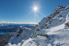 View from top of the Remarkbles Mountain Stock Photos
