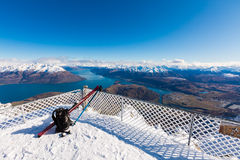 View from top of the Remarkbles Mountain Stock Images