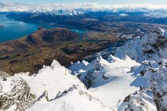 View from top of the Remarkbles Mountain Stock Photography