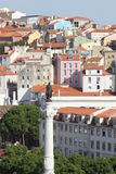 View from the top of Rossio Square in Lisbon Stock Photography