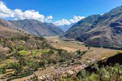 View from the top Sacred Valley, Peru Stock Image