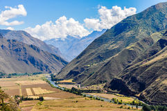 View from the top Sacred Valley, Peru Stock Images