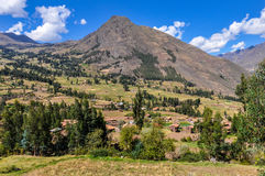 View from the top Sacred Valley, Peru Stock Photo