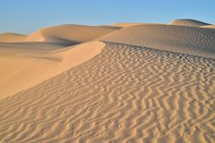 View top of sand dune Imperial Sand Dunes, California, USA Stock Photography