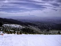 View From the Top of Santa Fe Ski Area Stock Photography