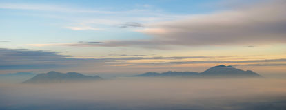 View from the top of Semeru volcano Royalty Free Stock Image