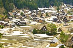 View on top shirakawago Stock Photography