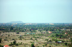 View on top of Siemreap city in Cambodia at morning Royalty Free Stock Image