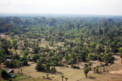 View on top of Siemreap city in Cambodia at morning Stock Photos