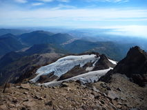 View from the top of sierra nevado ridge in chile. An patagonia Stock Photos