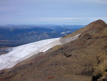 View from the top of sierra nevado ridge in chile Royalty Free Stock Photography