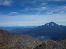 View from the top of sierra nevado ridge in chile Royalty Free Stock Photos