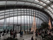 View from the top of the Sky Garden in London, England royalty free stock photos