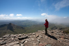 View from the top of Snowdon stock photography