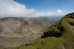 View from the top of Snowdon Royalty Free Stock Image