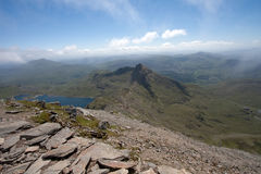 View from the top of Snowdon Stock Images