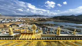 The view from the top of Songzanlin Tibetan Buddhist monastery.