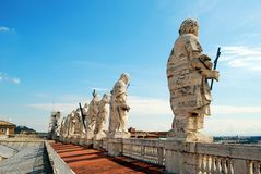 View of top of St Peter Basilica roof on May 31, 2014 Stock Photography