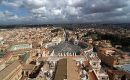 View from the top of St. Peter's basilica, Roma Stock Image