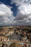 View from the top of St. Peter's basilica, Roma Royalty Free Stock Images