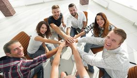 View from the top.successful business team. Photo with copy space Royalty Free Stock Image