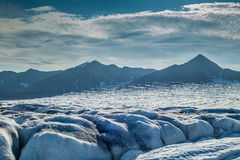 View from top surface of a Glacier Royalty Free Stock Images