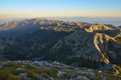 View from the top of Sveti Jure in Biokovo reservation, Croatia. Makarska Stock Photos