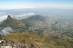 View from top of Table Mountain Stock Photography
