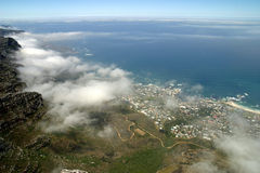 View from top of Table Mountain Stock Photo