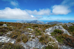 View of top of Table Mountain ins Cape Town, South Africa Royalty Free Stock Image