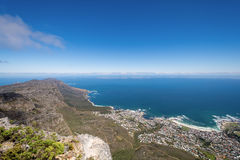 View of top of Table Mountain ins Cape Town, South Africa Royalty Free Stock Images