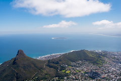View of top of Table Mountain ins Cape Town, South Africa Stock Image