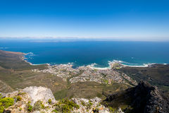 View of top of Table Mountain ins Cape Town, South Africa Royalty Free Stock Photo