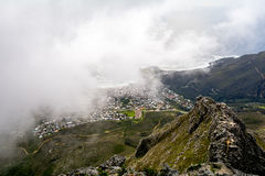 View of top of Table Mountain ins Cape Town, South Africa Stock Images