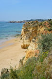 A view from top to the Praia da Rocha, Algarve Royalty Free Stock Image