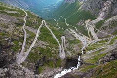Trollstigen in Norway stock photography