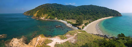 View from the top to the tropical island. Panoramic view to the tropical island Koh Lanta, Thailand royalty free stock photo