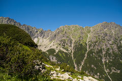 View from the top. Trail to the valley of five ponds. Stock Photo