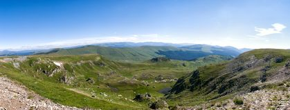 The view from the top of the Transalpina Romania royalty free stock images