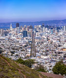 View from the top of Twin Peaks Royalty Free Stock Photos